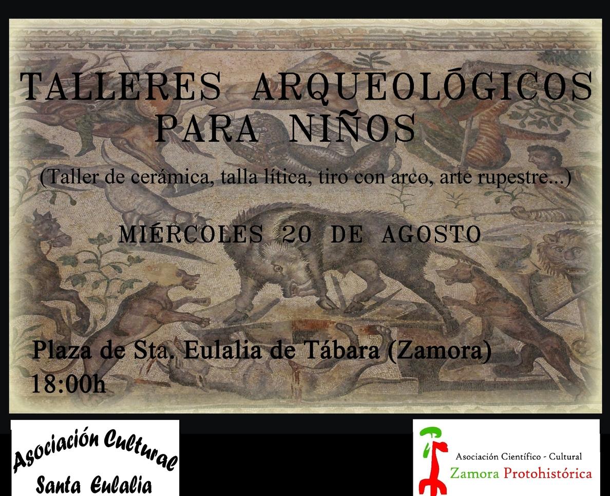 Santa Eulalia de Tábara (Zamora) acoge el miércoles los IV Talleres infantiles Arqueológicos