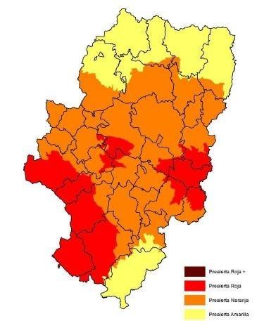 Prealerta roja por riesgo de incendios forestales en varias zonas de Aragón