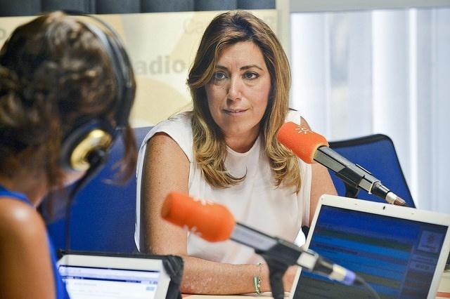 Susana Díaz insta a Podemos a aclarar cómo quiere crear empleo y alerta contra propuestas que desembocan en «corralitos»