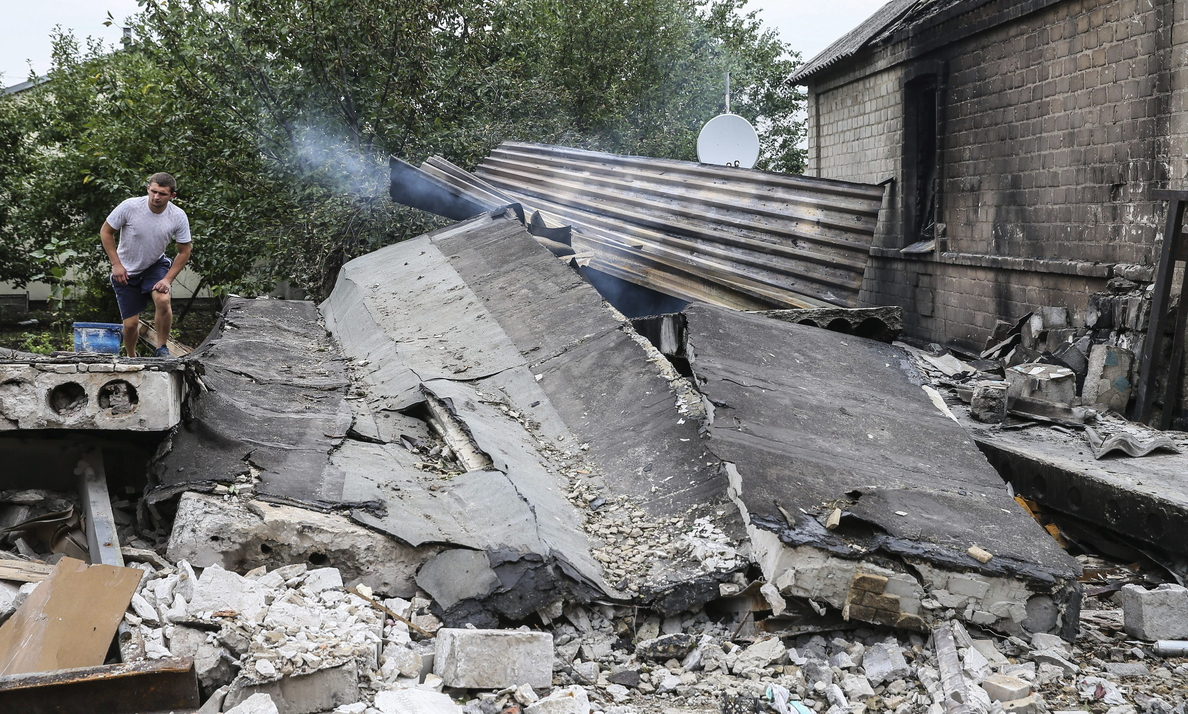 Ucrania denuncia la destrucción de un paso fronterizo por la artillería rusa