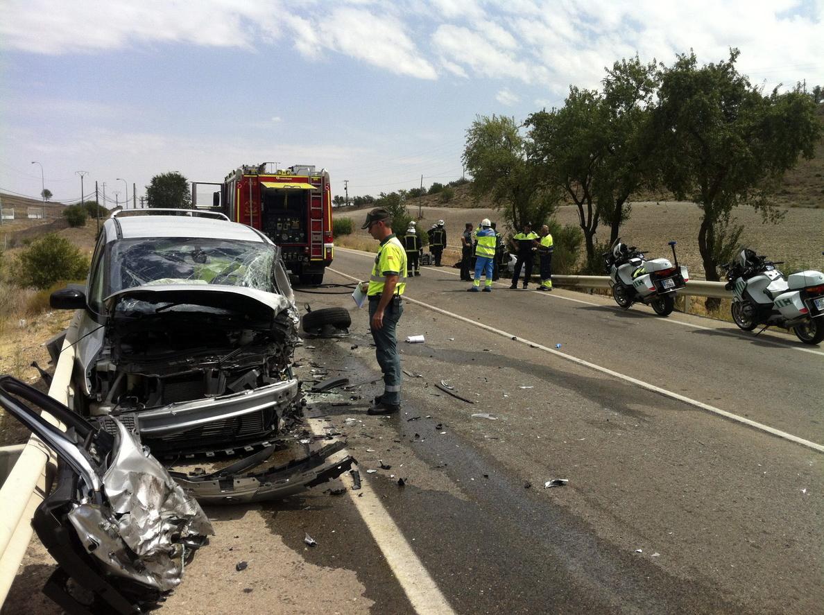 Un fallecido y dos heridos tras un choque frontal en la M-841 en Madrid
