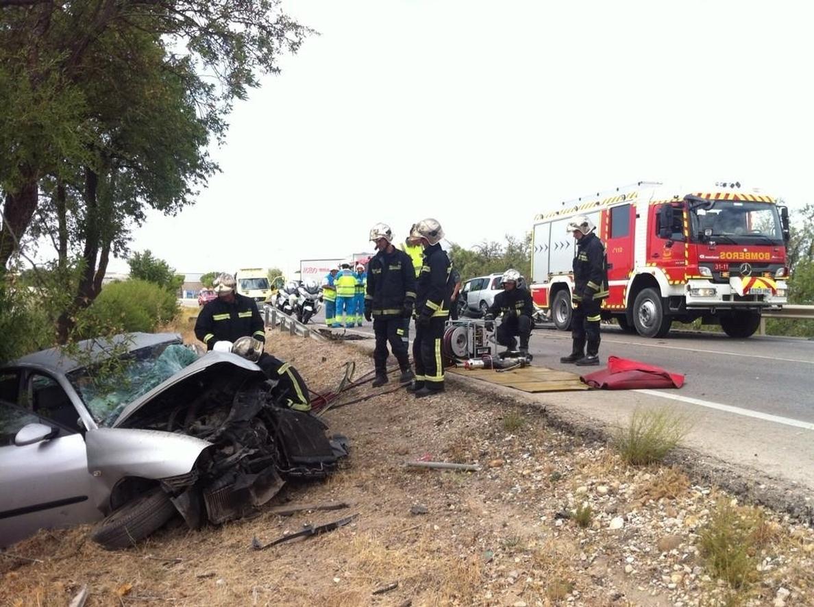 Un fallecido y dos heridos en un choque entre dos vehículos en Valdemoro (Madrid)