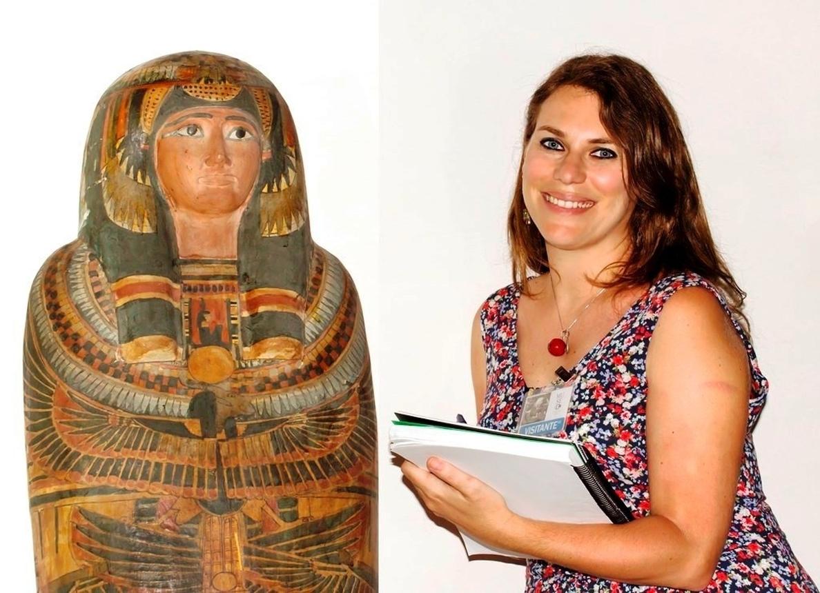 Una investigadora canaria estudia la colección egipcia de La Habana