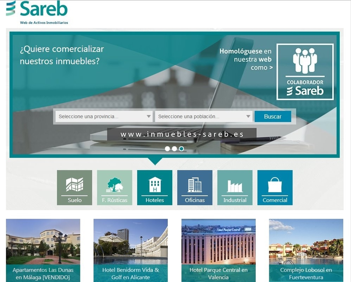 La región concentra el 16,3% de los inmuebles vendidos por la Sareb hasta junio