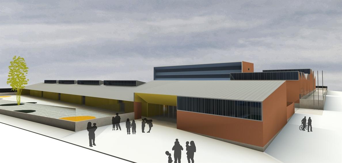 Comienza la construcción del aulario de Primaria del CEIP María de Huerva