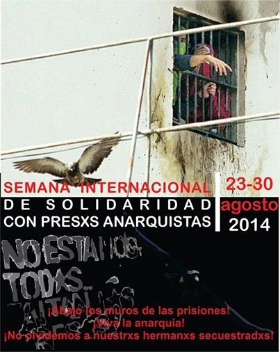 Grupos radicales anarquistas convocan una semana de solidaridad con sus presos y proponen acciones violentas