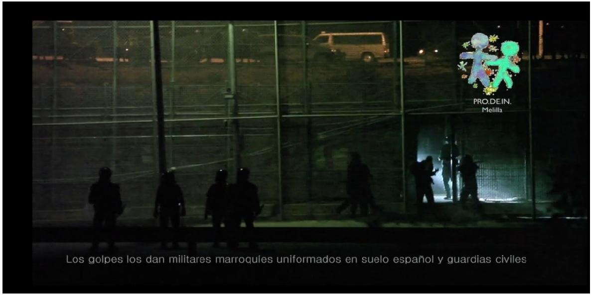 Prodein difunde un nuevo vídeo que muestra inmigrantes apaleados por fuerzas policiales en la valla de Melilla