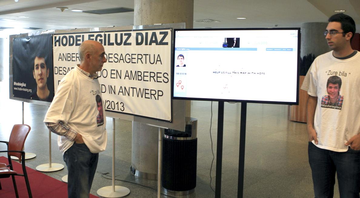 La búsqueda del vasco desaparecido en Amberes sigue viva gracias a sus allegados