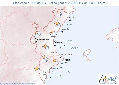 El norte de Castellón continúa en alerta amarilla por lluvias y tormentas, que pueden llegar a ser fuertes