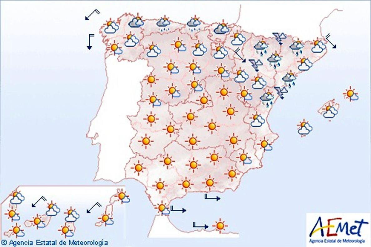 Continuarán hoy las tormentas en Huesca y Lérida, que se irán desplazando