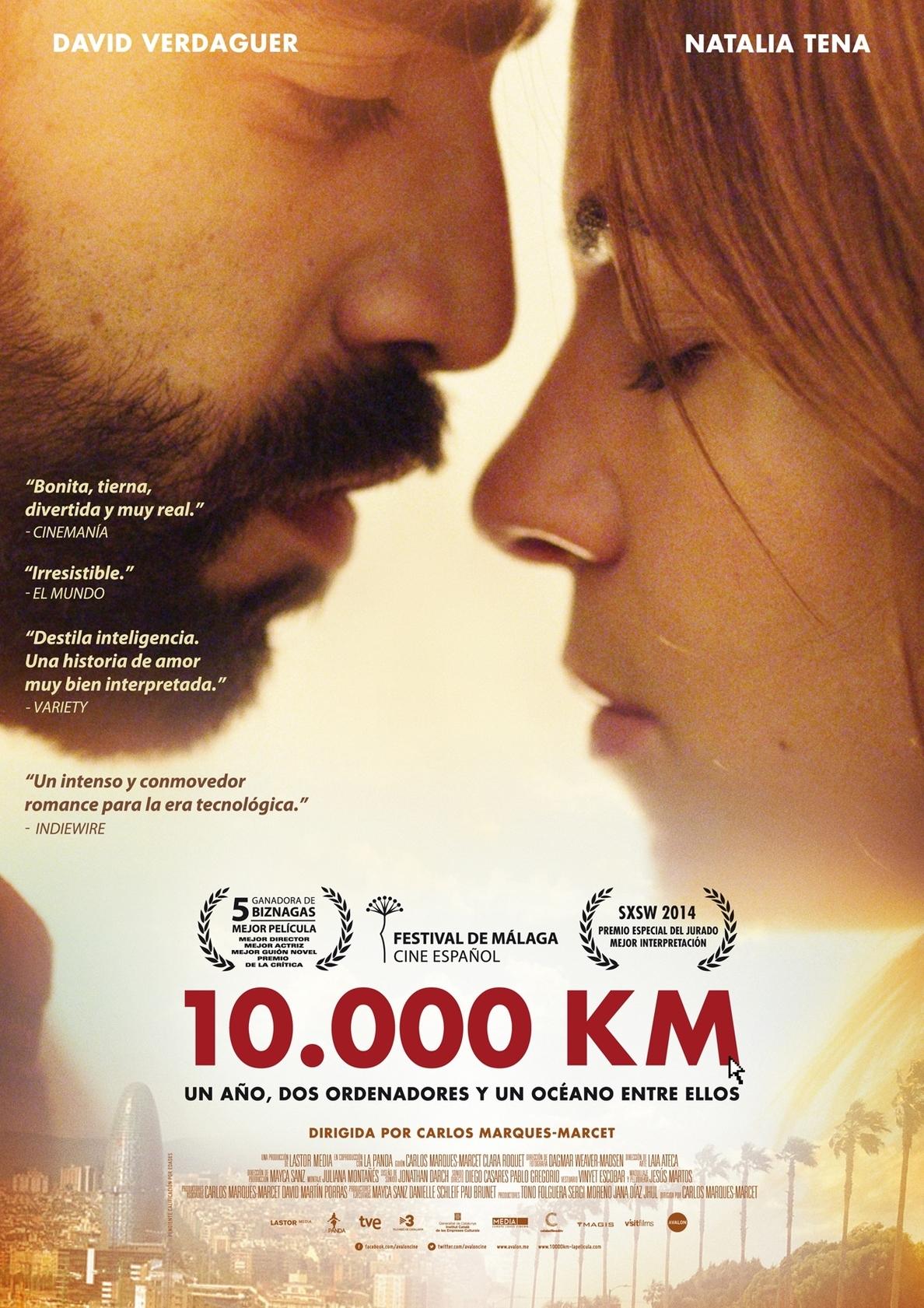 La triunfadora en el festival de cine de Málaga, »10.000 km», este jueves en el Bretón