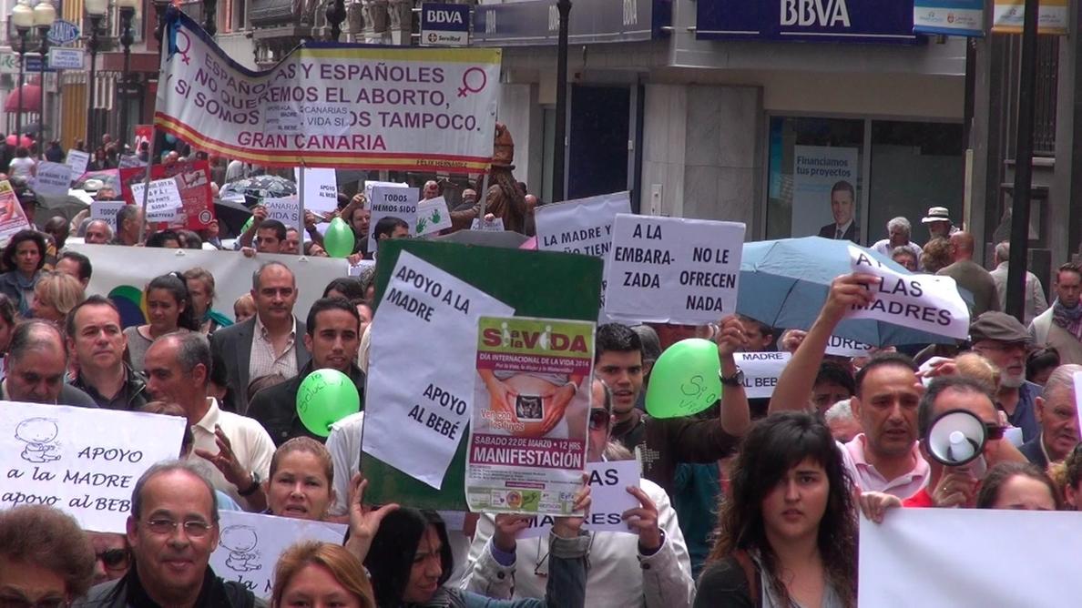 Derecho a Vivir en Gran Canaria resalta que el Gobierno de Rajoy ostenta el «mayor número de abortos», con 300 al día
