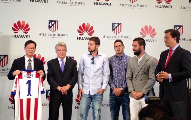 Huawei seguirá siendo patrocinador del Atlético de Madrid durante dos temporadas