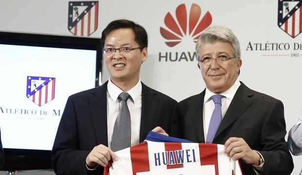 Huawei renueva su patrocinio con el Atlético de Madrid