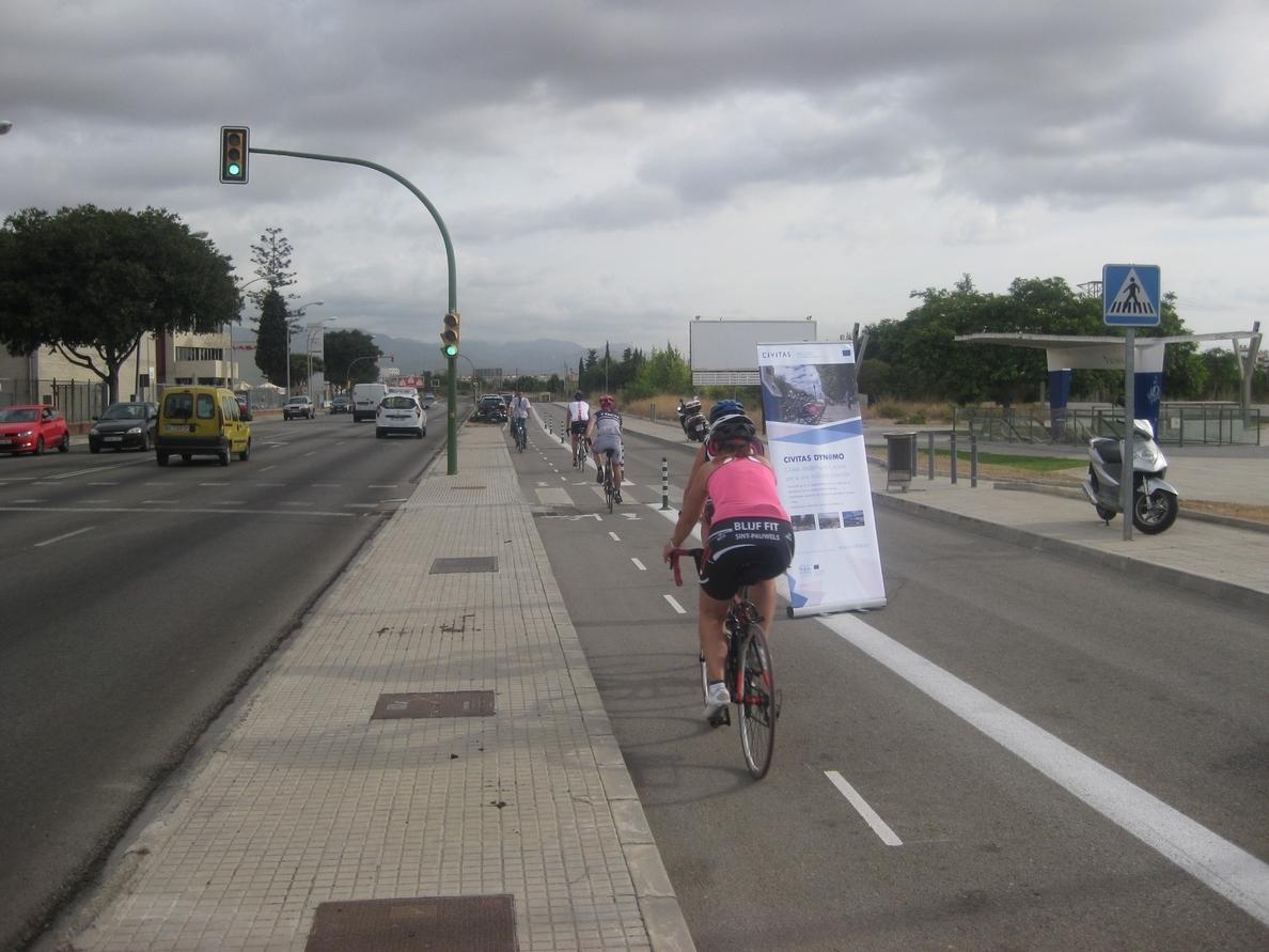 Inaugurado un nuevo carril bici que permitirá conectar Sa Indioteria con el centro de Palma