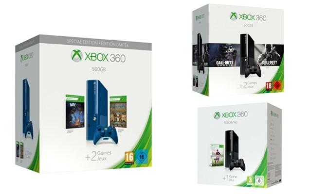 Microsoft anuncia la llegad a España de tres nuevos »packs» para Xbox 360