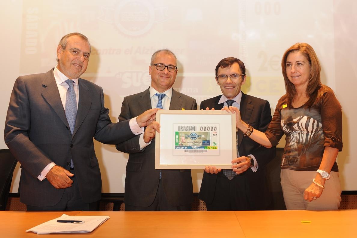 La ONCE dedica su cupón de este sábado a la Fundación Reina Sofía y su campaña sobre la lucha contra el Alzheimer