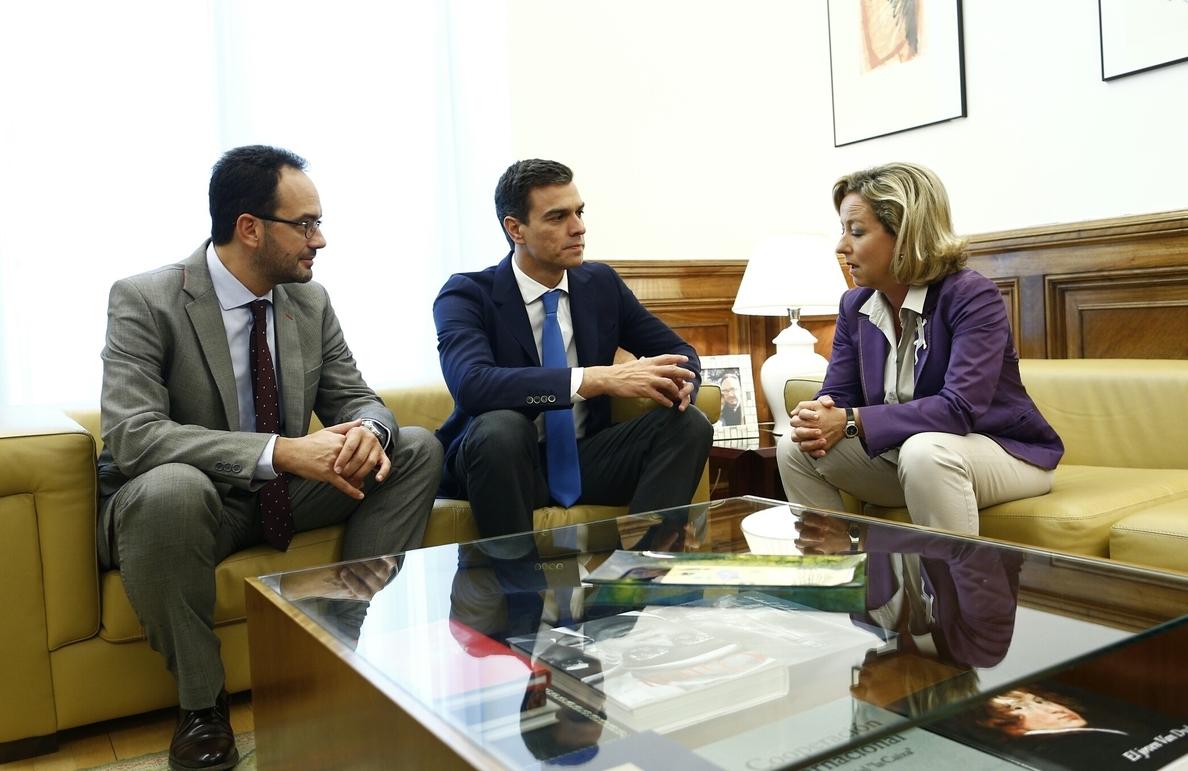 Pedro Sánchez comparte con Coalición Canaria su rechazo a las prospecciones en Canaria, que llevarán al Congreso