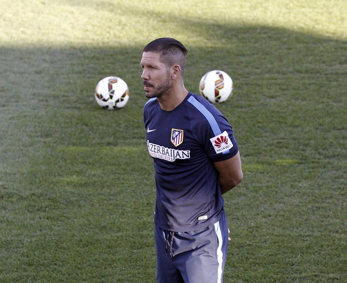 El Atlético siente la »orfandad» de Simeone en el banquillo