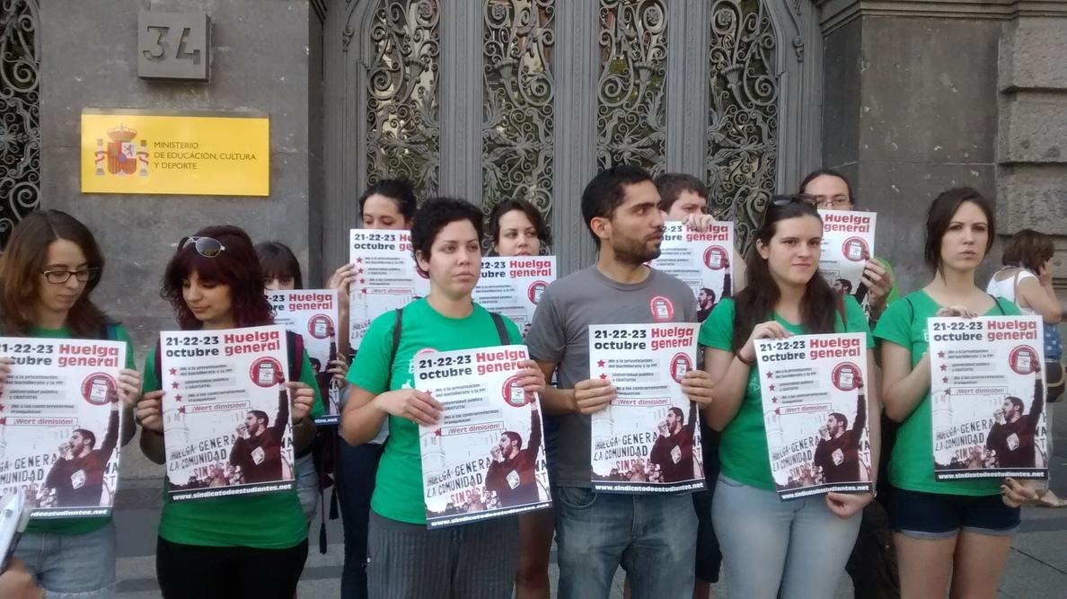 El Sindicato de Estudiantes exige a CEAPA y UGT que rectifiquen su »no» a la huelga de enseñanza