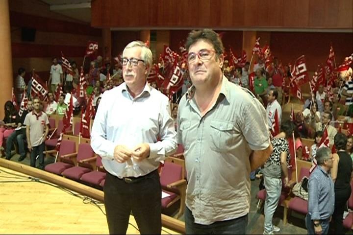 Toxo plantea como «reto» convertir a CCOO en la «primera referencia» en Extremadura
