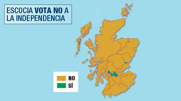 Los votos por distritos: Glasgow, bastión independentista en un mar unionista