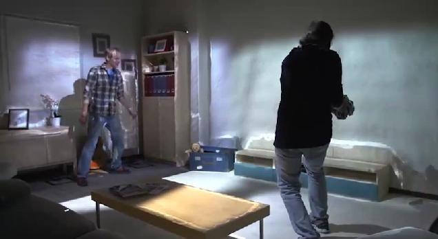 Kinect y proyectores convierten una habitación en un videojuego