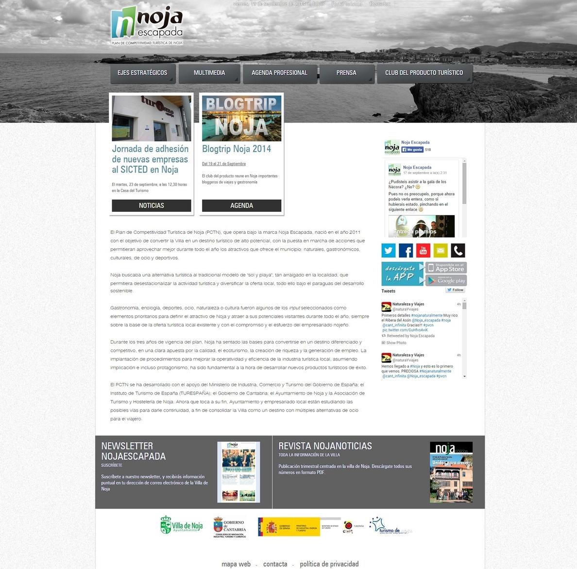 Noja Escapada estrena web para profesionales turísticos