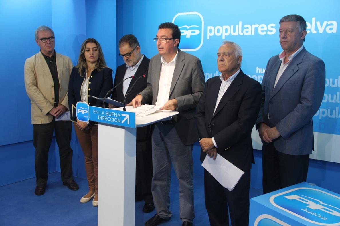 El PP destaca que «las grandes infraestructuras» demandadas en Huelva están en las cuentas de 2015