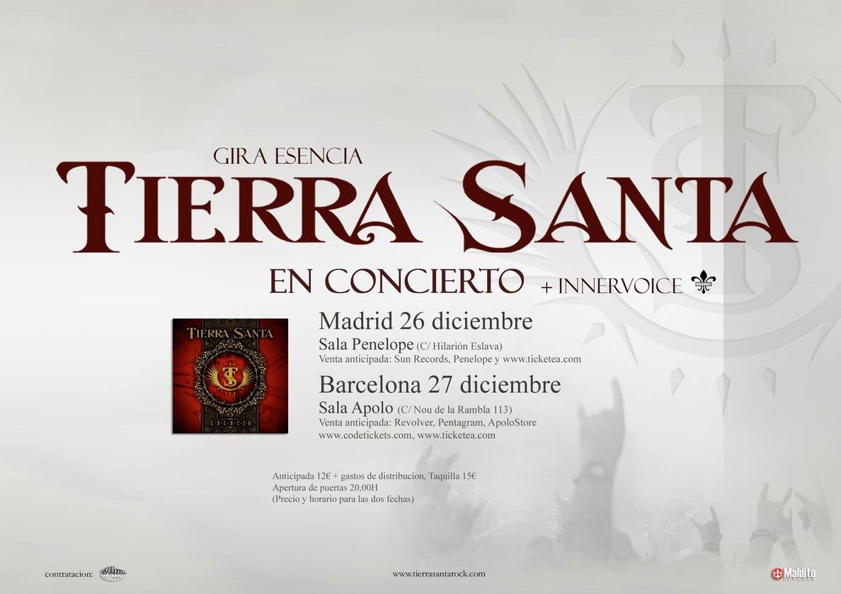Tierra Santa actuarán en diciembre en Madrid y Barcelona