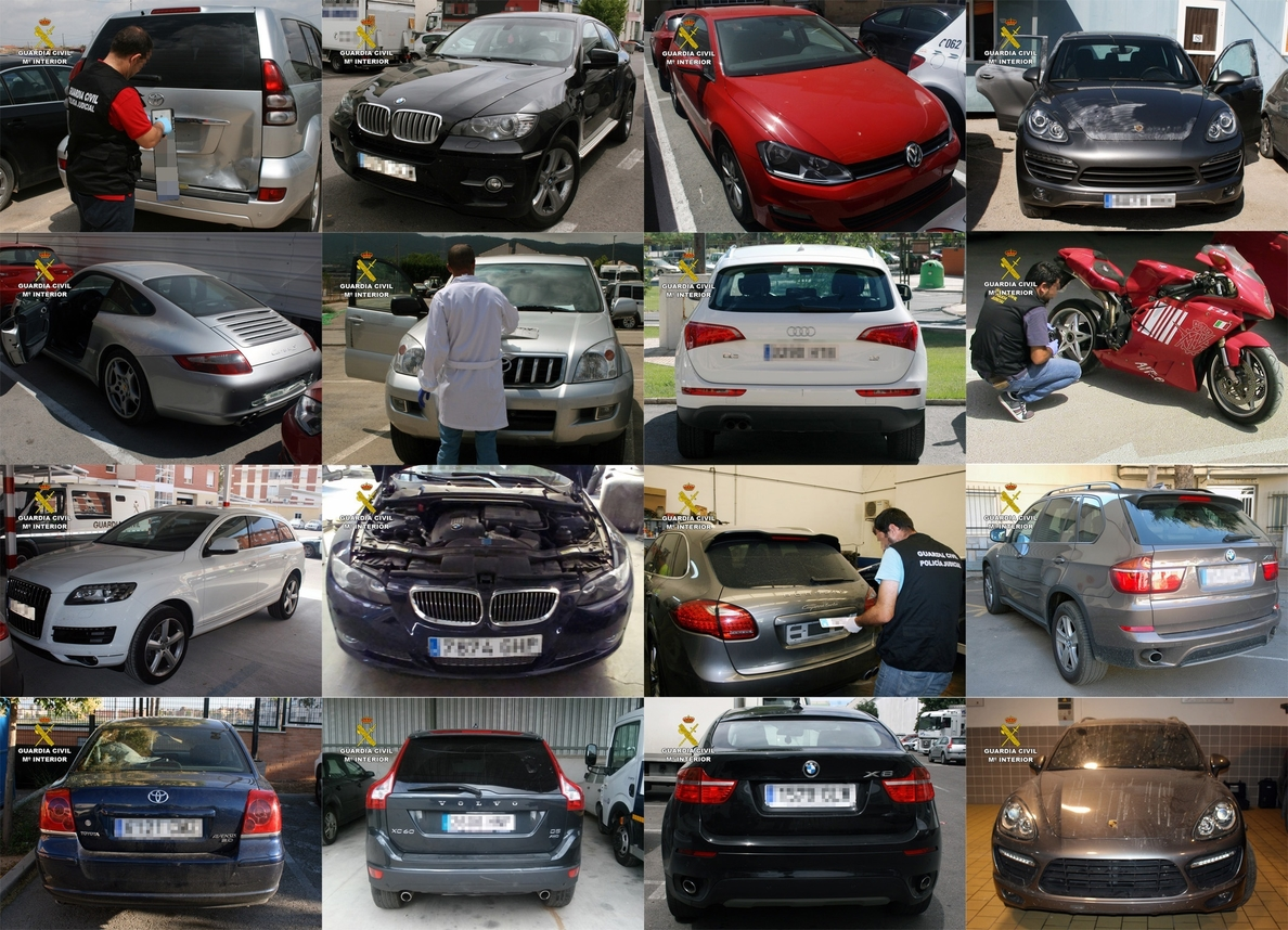 Detenidas 18 personas de una red que presuntamente robó hasta 200 vehículos de lujo para exportarlos