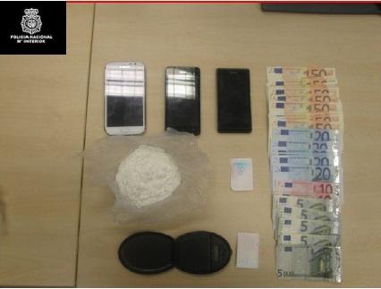 Detienen a tres hombres en Santander con 85 gramos de cocaína
