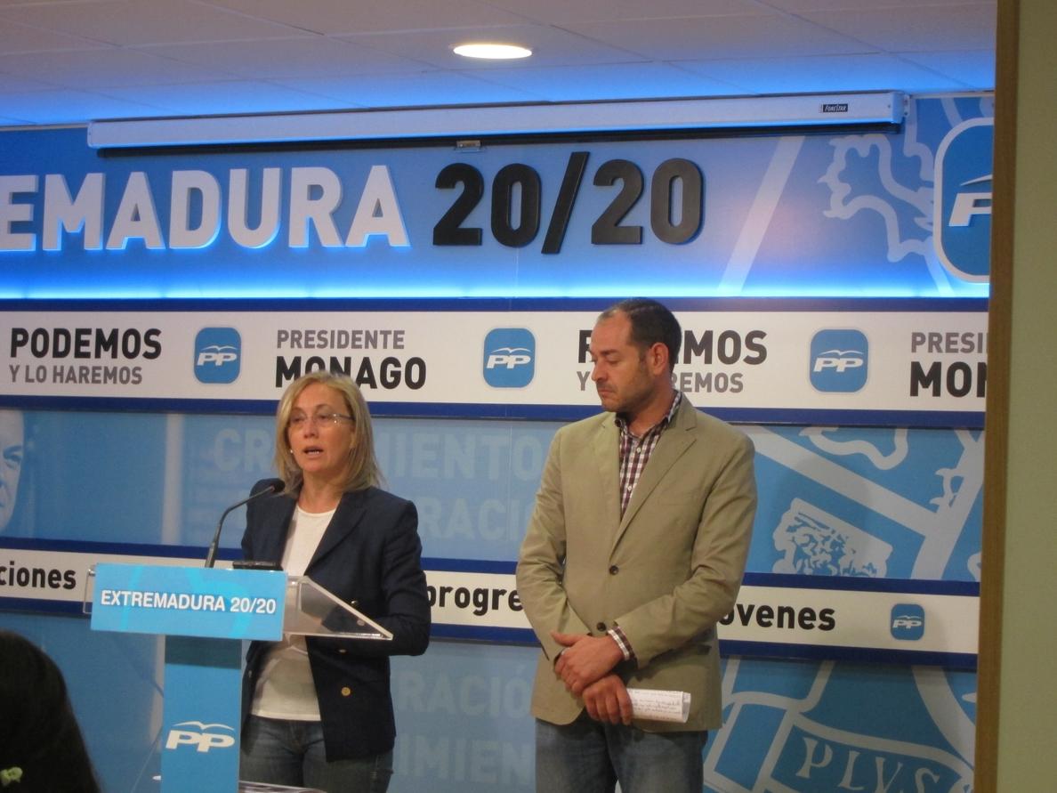 La diputada del PP Teresa Angulo asegura que las cuentas «ratifican» el compromiso de Rajoy con Extremadura