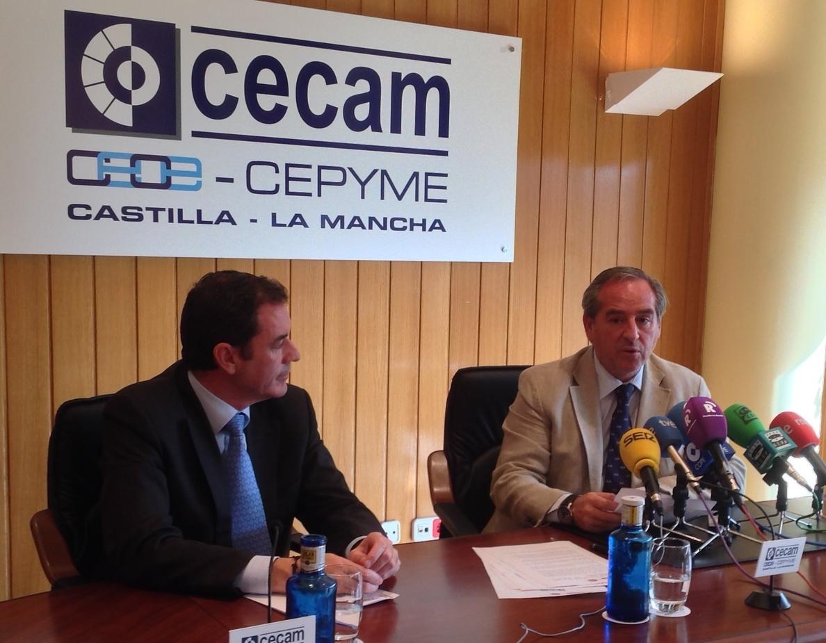 Manuel Torrecillas, Rafael Santos, Francisco Pocoví, Mariano Hervás y Juan Carrasco, XI Premios Empresariales CECAM