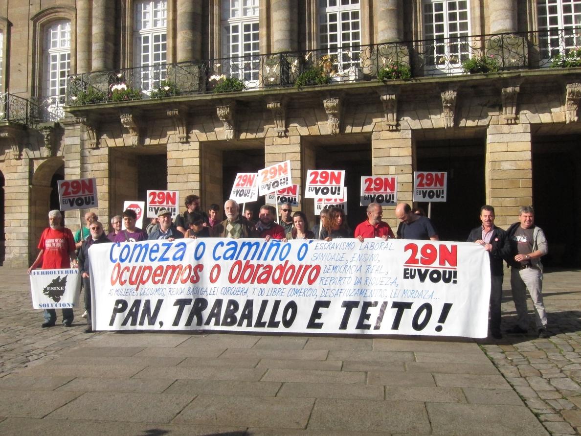 Las Marchas de la Dignidad ocuparán el Obradoiro el 29 de noviembre para reclamar «pan, trabajo y techo»