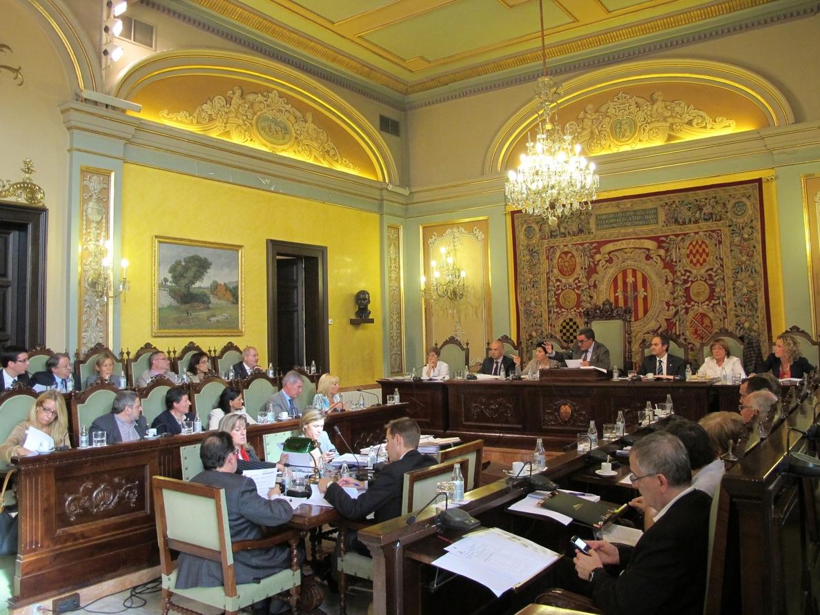El Ayuntamiento de Lleida, gobernado por el PSC, aprueba una moción de apoyo al 9N