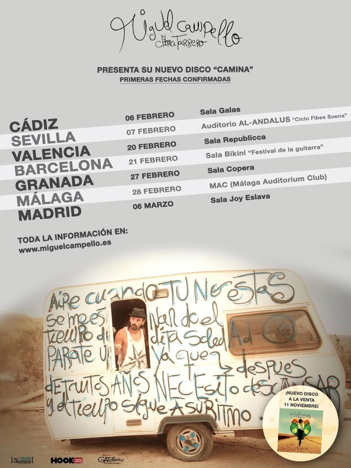 Miguel Campello anuncia las primeras fechas de su nueva gira