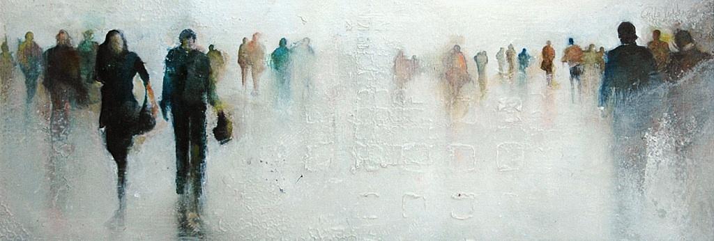 La pintora Anka Moldovan exhibe su sorprendente garra sentimental en la muestra »No Lugares»