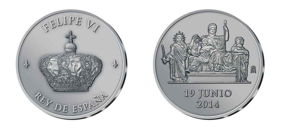 Economía lanza una moneda de 2 euros conmemorativa de la proclamación del rey