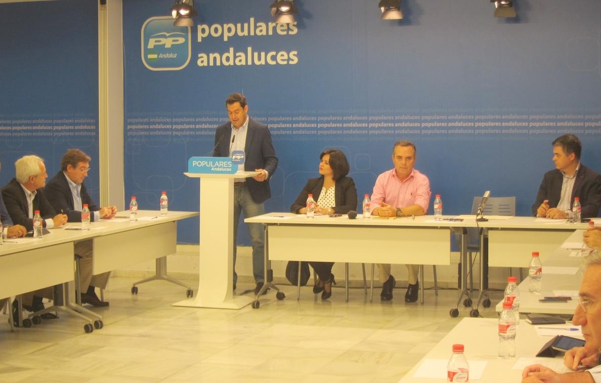 Moreno dice que si la Junta «no cambia de rumbo» presentará una enmienda a la totalidad de los presupuestos para 2015