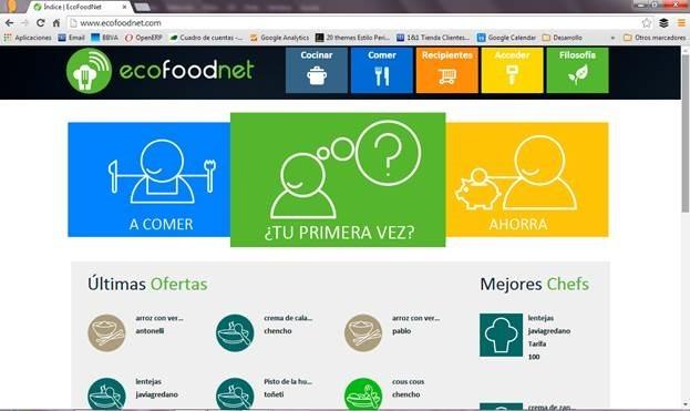 Tres algecireños crean Ecofoodnet, una red social en la que los usuarios pueden compartir comida casera