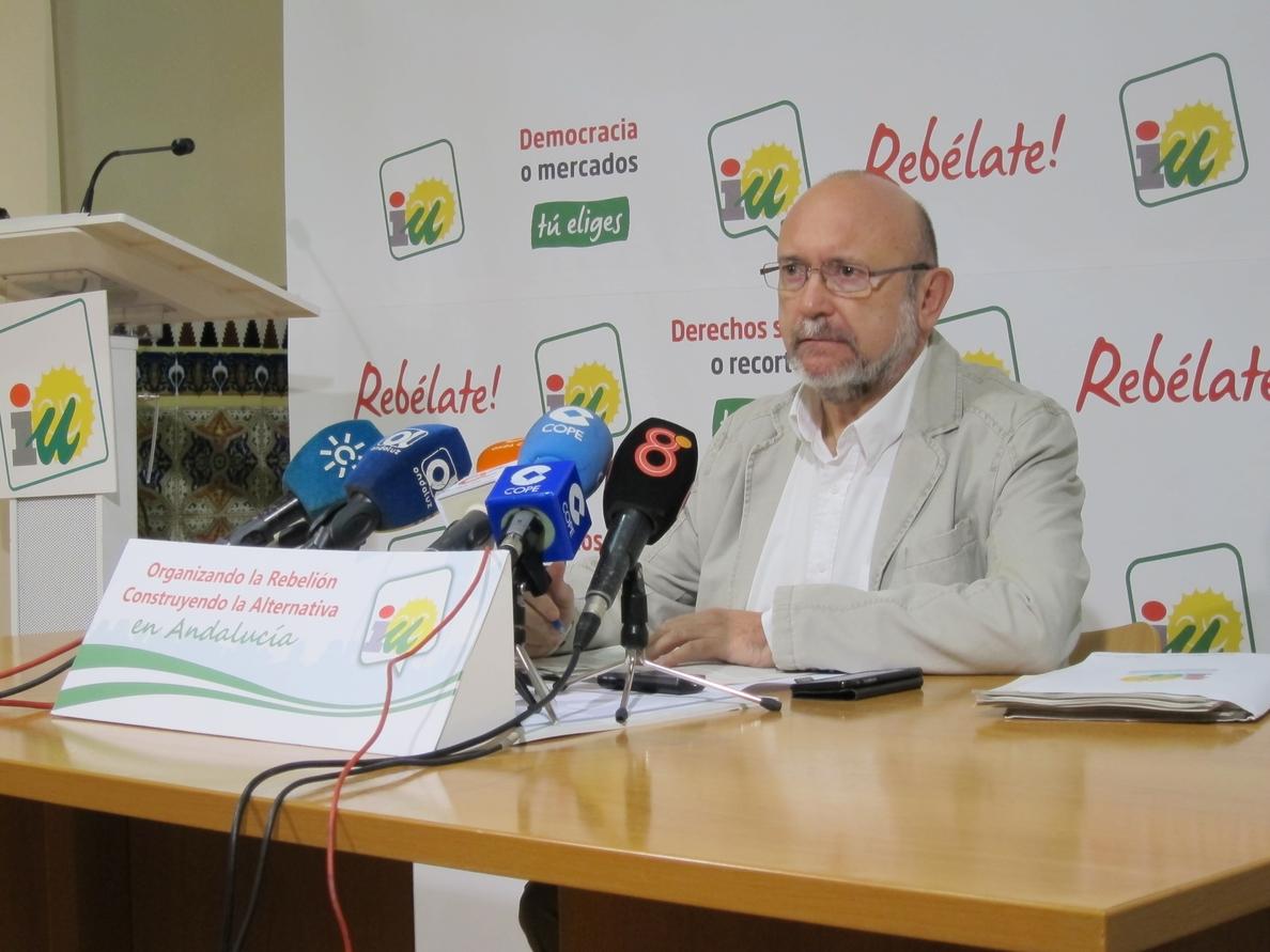 García (IU) dice que la «explosiva» subida de Podemos hace difícil entender que no concurran a las municipales