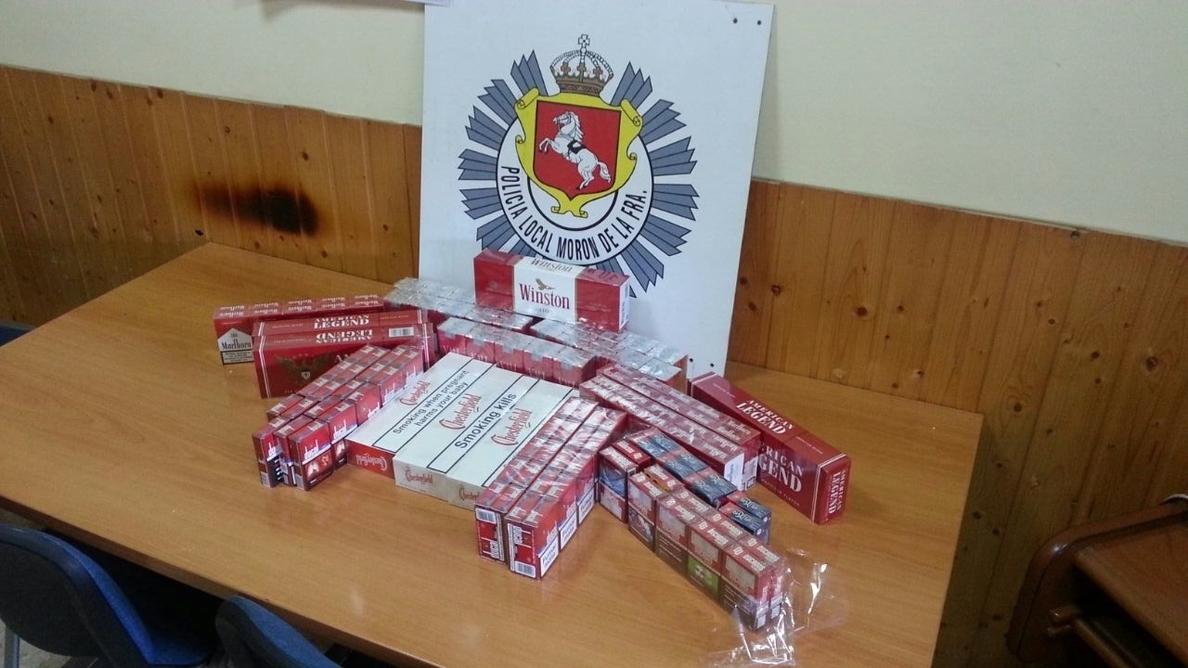 La Policía Local de Morón se incauta de 20 cartones de tabaco de contrabando