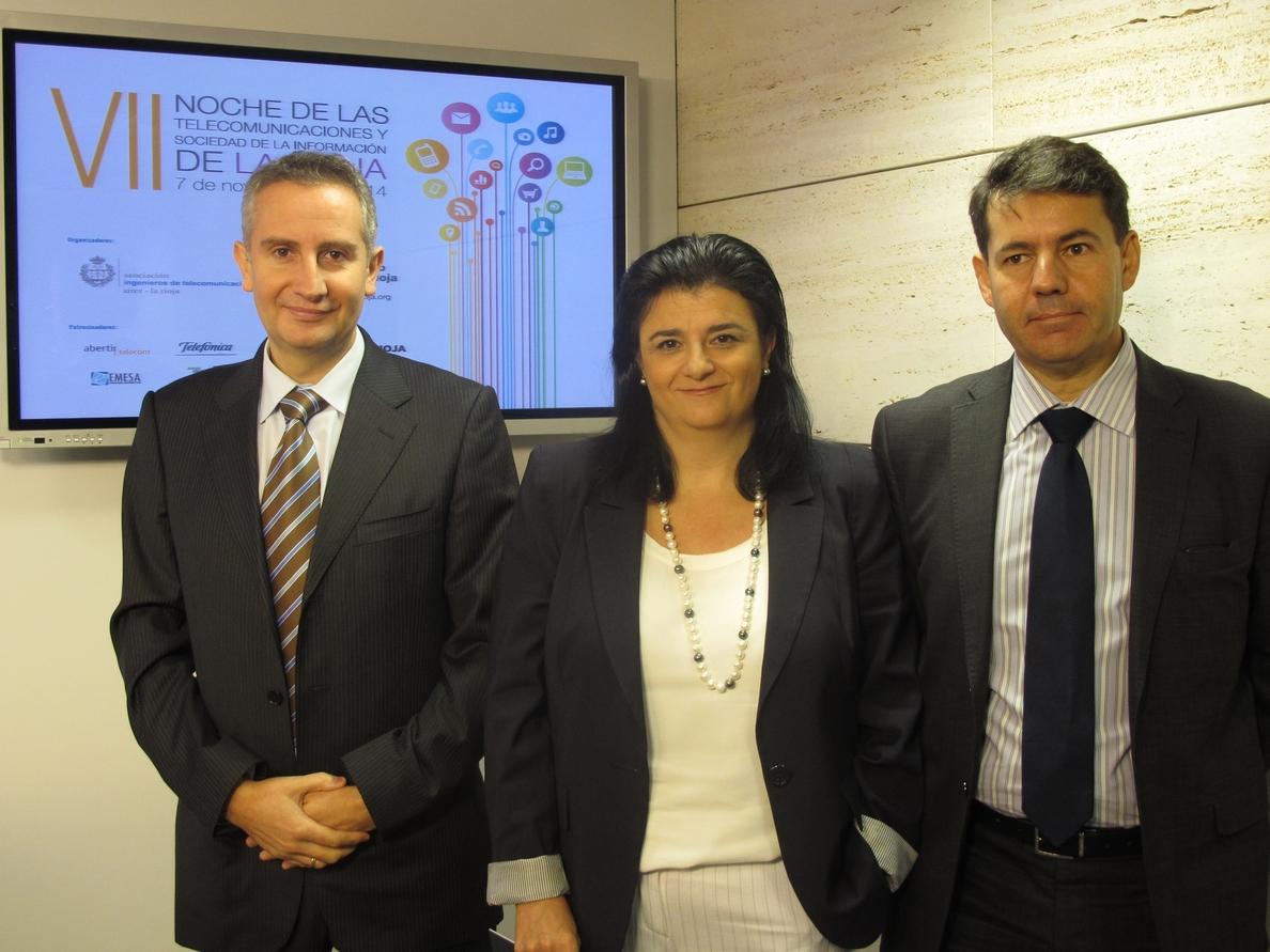 UNIR, Diario »La Rioja» y Pedro Bados, galardonados en los VII Premios de la Noche de las Telecomunicaciones