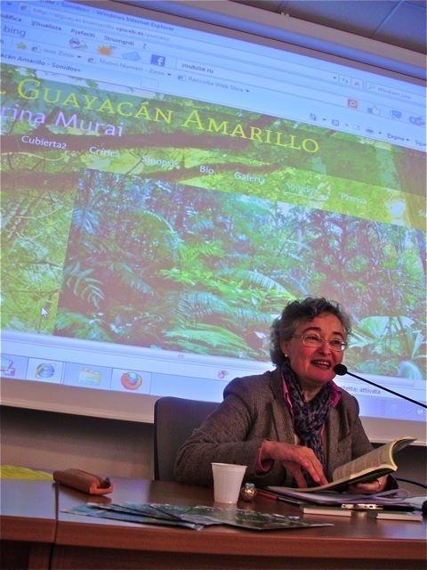 La escritora Marina Murai presenta su nueva novela, »El Guayacán amarillo»