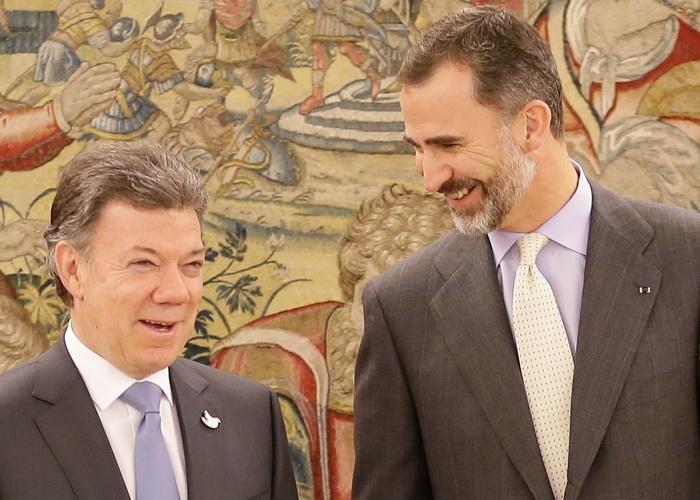 El Rey Felipe VI ofrece un almuerzo al presidente de Colombia, Juan Manuel Santos