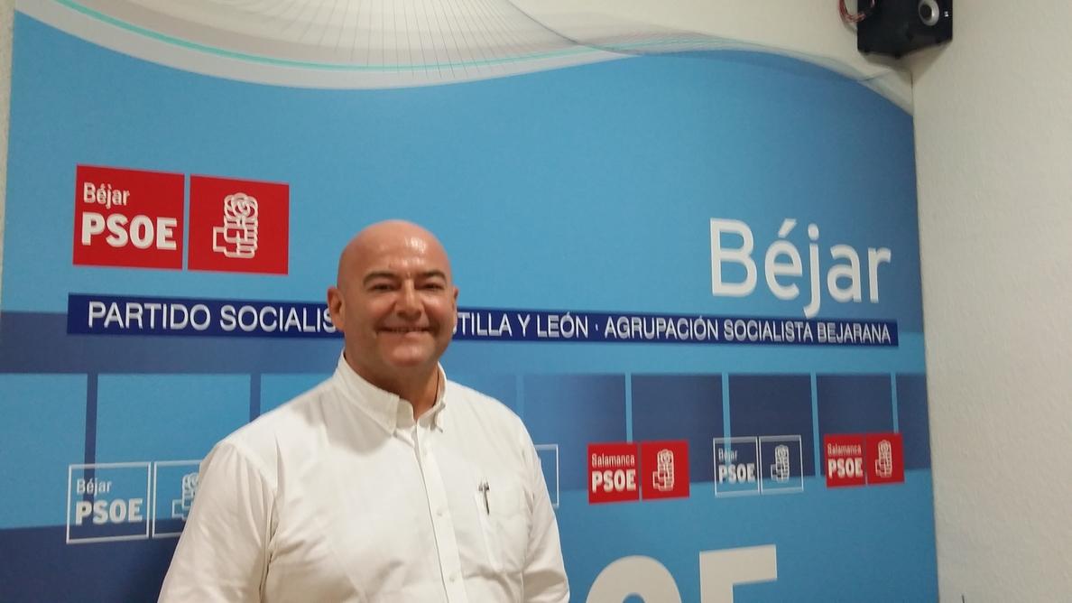 Javier Garrido, candidato del PSOE para la Alcaldía deBéjar (Salamanca) en las próximas elecciones
