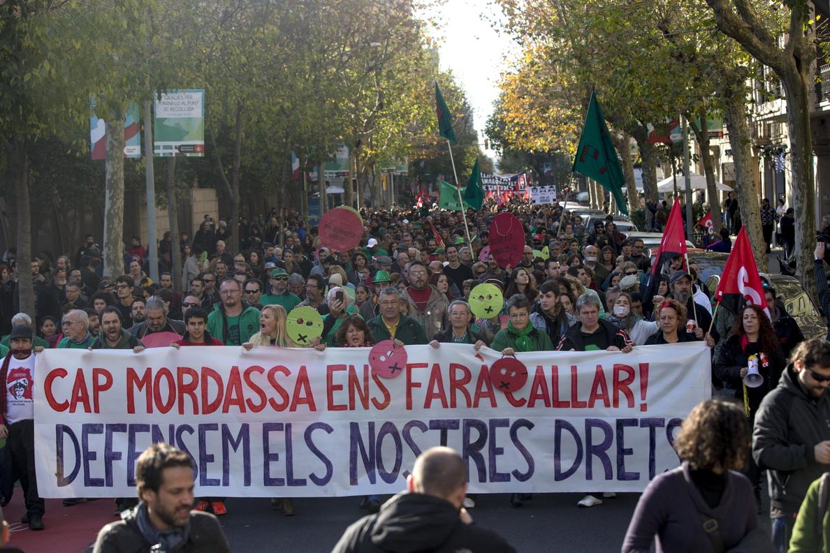 Quince identificados por incidentes tras manifestación contra Ley seguridad