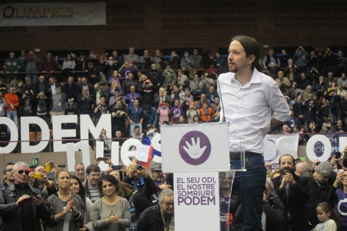 Iglesias no visita Catalunya para «prometer nada a nadie» y carga contra Mas y Rajoy