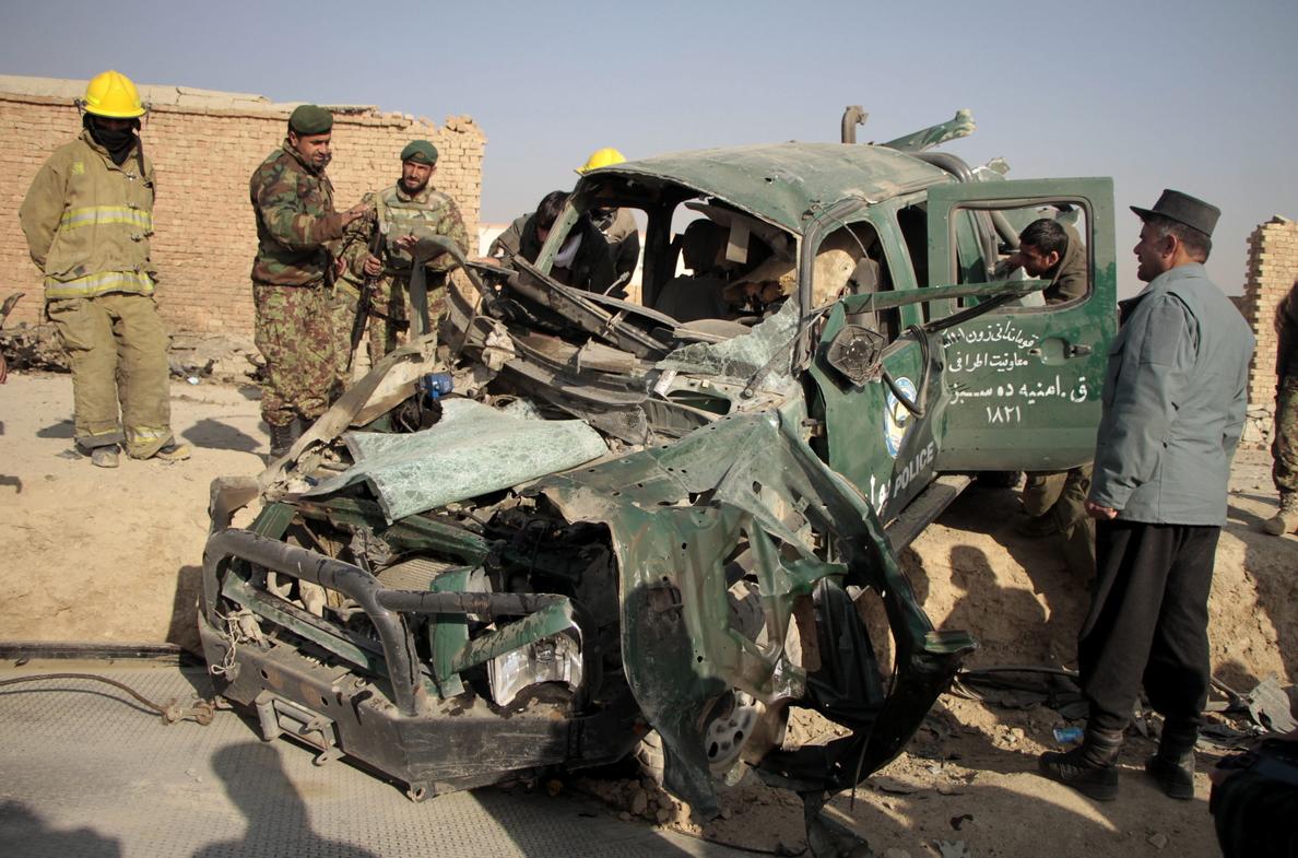 Siete muertos en Afganistán al estallar una bomba casera